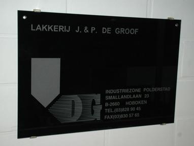 Lakkerij J.& P. De Groof - Hoboken - Zanstralen